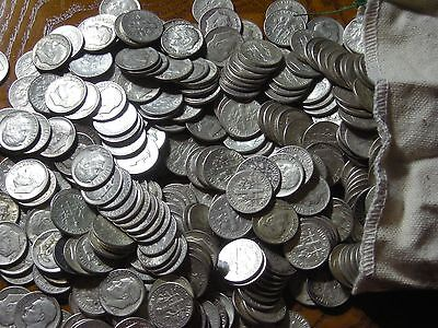 500 Silver Dimes    $50  Face..... Silver is a great investment!   FREE SHIPPING