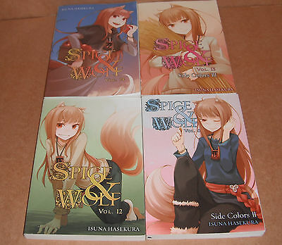Spice and Wolf Novel Vol. 11,12,13,14 Novels Set English
