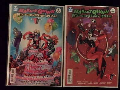 HARLEY QUINN 25th ANNIVERSARY SPECIAL 1 (2 COMIC LOT) DODSON VARIANT DC 2017 NM