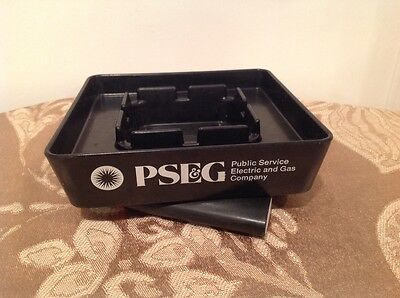 Vintage Ashtray | Public Services Electric & Gas | Made in U.S.A. | Black