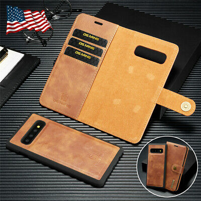 Leather Removable Wallet Magnetic Flip Case Cover Samsung Galaxy Note9/8 S8 Plus
