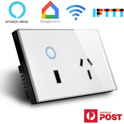 10A AU Plug Smart WiFi Switch USB Outlet / SAA 15A Touch Wall Socket USB Charger