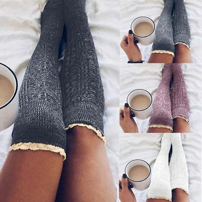 Fashion Women Winter Knit Over knee Long Boot Thigh-High Warm Socks Leggings New
