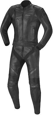 IXS vibe men's Leather Suit Two-Piece Motorcycle Black or Black-Grey-White