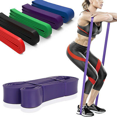 5 Level Resistance Exercise Loop Yoga Bands Home Gym Fitness 100% Natural Latex