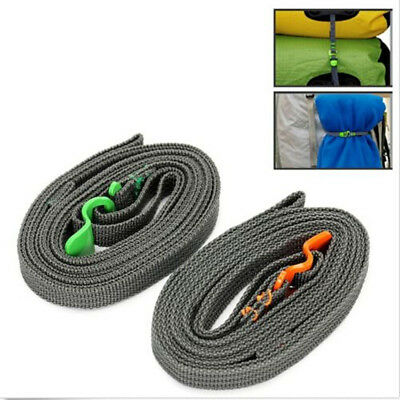 Gear Outdoor Travel Strapping Cord Tape Rope Tied Pull Luggage Stainless Hook
