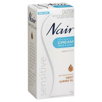 Nair Hair Remove Cream Face & Body with Sweet Almond Oil 75g