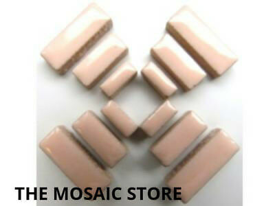 Pink Ceramic Rectangle Tiles - Mosaic Art Craft Supplies