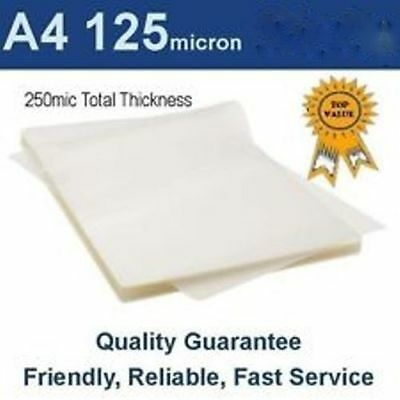 BL125MA4 Premium Quality A4 Laminating Pouches 125 Micron Rounded Corners Pk 100