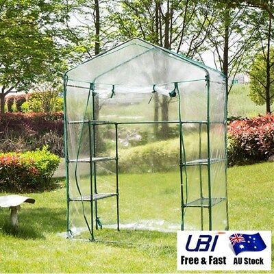 Garden Greenhouse Tall Green Veg Plant House Shed Storage PVC Cover Waterproof