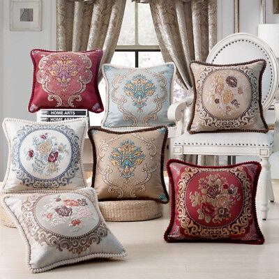 Luxury Palace embroidery Sofa Pillows Square Cushion Pillows Cover Case Cushions