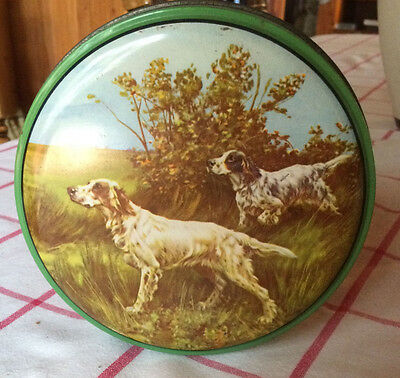 "Vintage ""English Setter"" Collectable Tin"