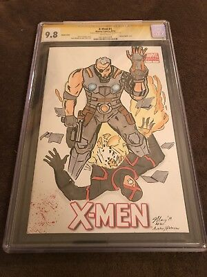 X-Men #1 Blank Variant Sketch of Cable by Chris Mangold CGC 9.8SS