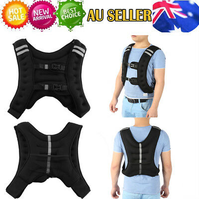 10KG Weighted Weight Vest Adjustable Size Crossfit MMA Strength Training Sports
