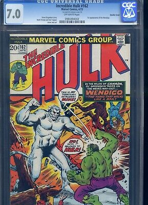 Incredible Hulk #162 CGC 7.0 Double Cover 1st Appearance of the Wendigo