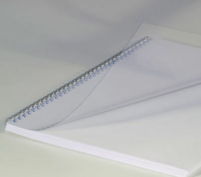 BCP25CLR100  Quality Clear Binding Covers A4 250 Micron Transparent  Pack 100