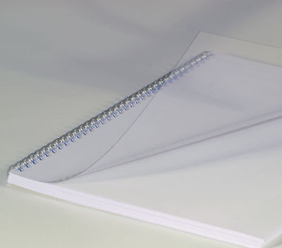 Clear Binding Covers A4 Thicker 250 Micron (NOT 200) Transparent PK 100 BCP25CLR