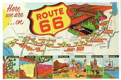 Chicago America Map.Route 66 Main Street Of America Highway Chicago To Los Angeles