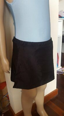 MakAmy Girl's Figure Ice Skating Full Skirt Black spandex sz10 BNWT 38