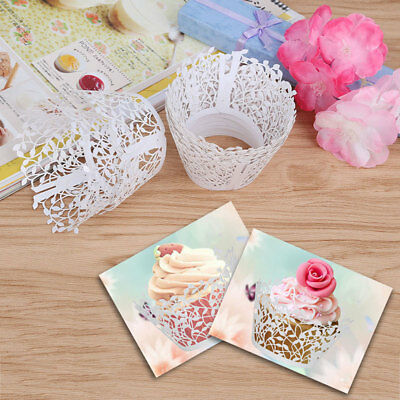 20/40/80/100pcs Luxury Wedding Sweet Cake Single Cupcake Boxes Favor Favours