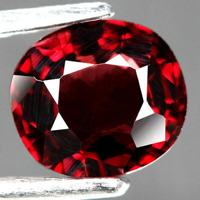 1.24Ct.sparkling! Oval Facet Pink Red Natural Spinel Tanzania