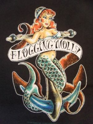 Flogging Molly Sailor Mermaid T-Shirt SIZE S Fruit of the Loom Vintage Band