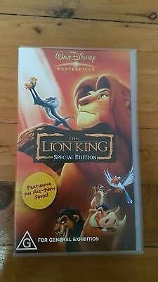 The Lion KIng (Special Edition) VHS