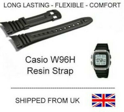 Brand New Black Strap For Casio W96 W-96H W96H 577EA1 UK STOCK - FAST
