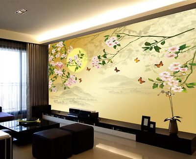 3D YELLOW Flowers 873 Wallpaper Mural Paper Wall Print Wallpaper ...