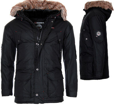 Geographical Norway Herren Sehr Warm WinterJacke Parka Outdoor Funktionsjacke
