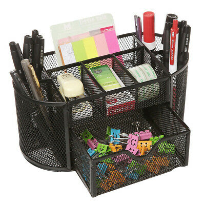 Pencils Mesh Holder Stationery Container Desk Tidy Organiser Office School UK