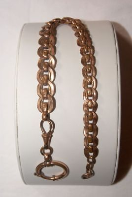 Vergoldete A. Charnier Taschenuhr - Kette / Pocket watch chain um 1900, 28,5 cm
