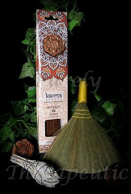 COMPLETE SMUDGING CLEANSE PACK KIT~Patchouli Fragrance Incense Broom White Sage