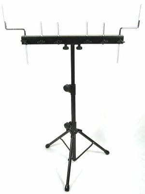 6 Point Percussion Rack / Stand – drum kit cowbell tambourine blocks agogo mount