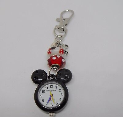 Black and Red Mouse Beaded Watch Bag Charm/ Key Ring