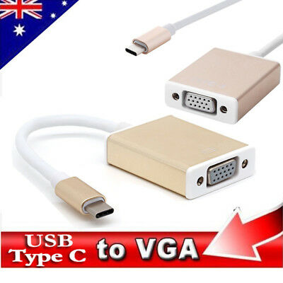 Type C USB 3.1 USB C Male to VGA Female Converter Cable for Macbook Chromebook