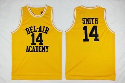 Will Smith #14 The Fresh Prince of Bel Air Basketball Jersey - Yellow