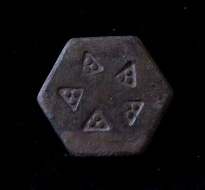 Viking Bronze Hexagonal trading weight with decoration 900 AD
