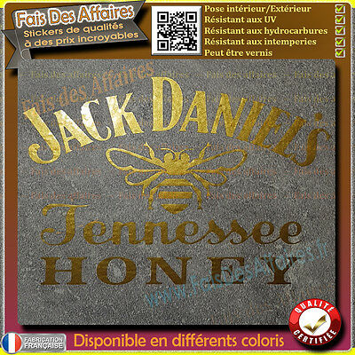 sticker autocollant Jack Daniel honey daniel's sticker deco moto voiture casque