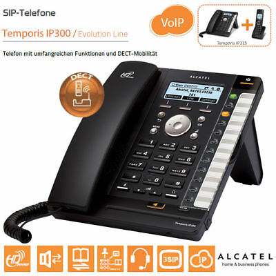 ALCATEL IP315 SIP Telephone incl. power supply & DECT Peoplefon/Provisioning