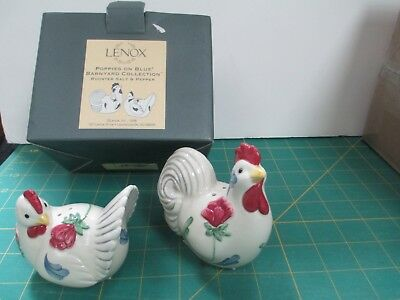 LENOX Barnyard Collection ROOSTER Salt and Pepper MIB