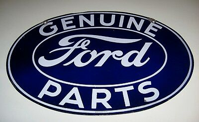 Ford Genuine Parts Porcelain Advertising Sign  Original Double Sided