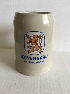 Vintage LOWENBRAU MUNCHEN  Beer STEIN Mug West Germany EUC