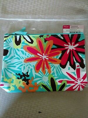Thirty-One ~ Zipper Pouch ~ Daisy Craze ~ New in bag ~ Retired Print