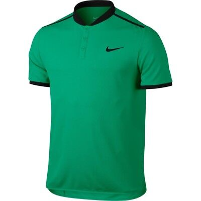 Nike Mens Dri-Fit Court Advantage Tennis Top Green/Black 830839-324 ***