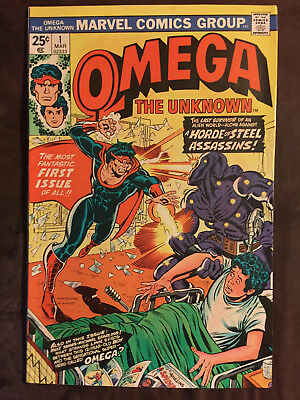 OMEGA THE UNKNOWN #1 (March 1976) / 8.0 VF: Steve Gerber writer