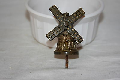 Vintage Solid Cast Brass Spinning Wind Mill Finial Lamp Clock Topper
