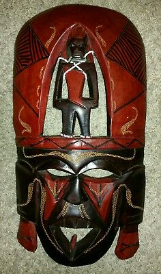 Beautiful Hand Crafted Wooden Mask (From Kenya)