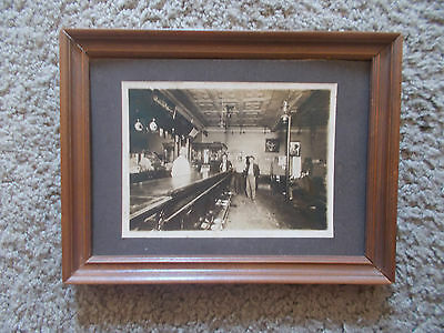 Pre Prohibition Bar Tavern B&w Photo Heims Brewery E St Louis A-B Red Bud Ill ??