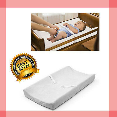 Baby Changing Table Pad Cover Contoured Diaper Change White Ultra Plush